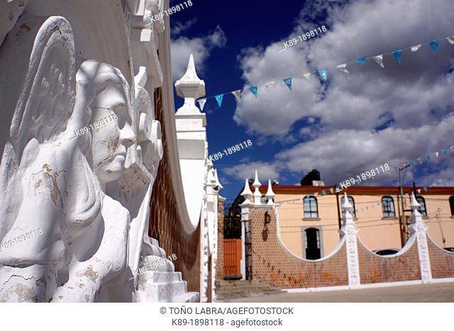 Ocotlan church Tlaxcala Mexico