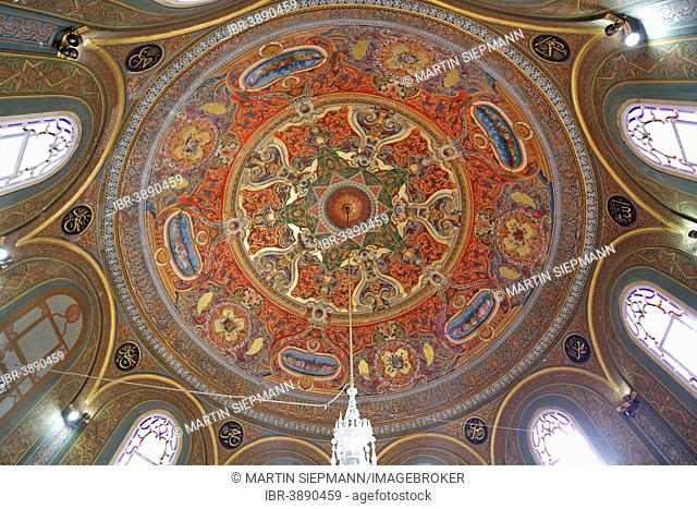 Dome of the Türbe of Sultan Mehmed II, Fatih Mosque, Fatih district, Istanbul, European Side, Turkey