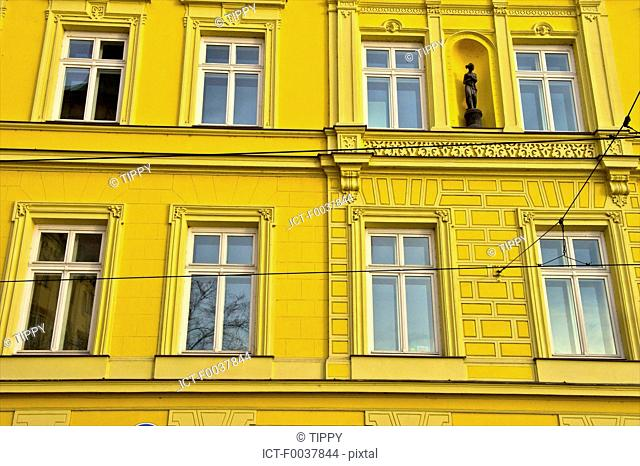 Czech Republic, Prague, painted facade