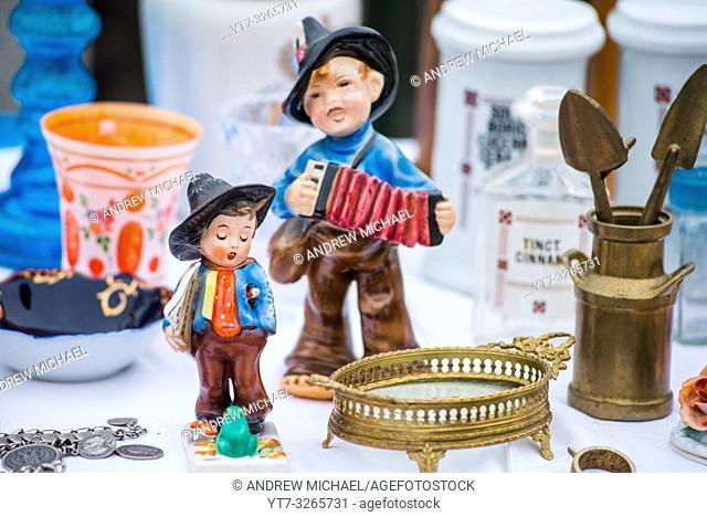 Vienna Naschmarkt Linke Wienzeile flea market antique market. Austria