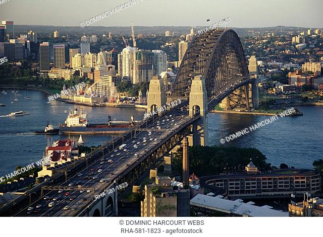 View from ANA Hotel to Sydney Harbour Bridge, Sydney, New South Wales, Australia, Pacific