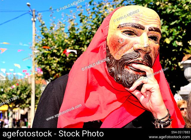 Irrio Peliqueiro. Traditional mask of Castro Caldelas, Orense, Spain