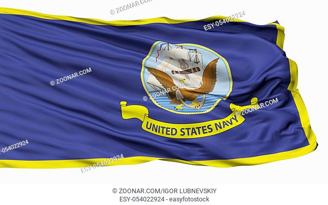 United States Navy Official Specifications Flag, Isolated On White Background