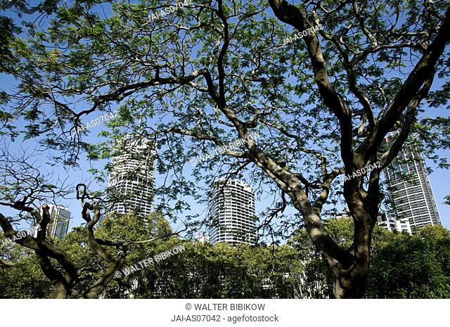 Australia, Queensland, Brisbane, Highrise Office Buildings at Riverside Centre along the Brisbane River