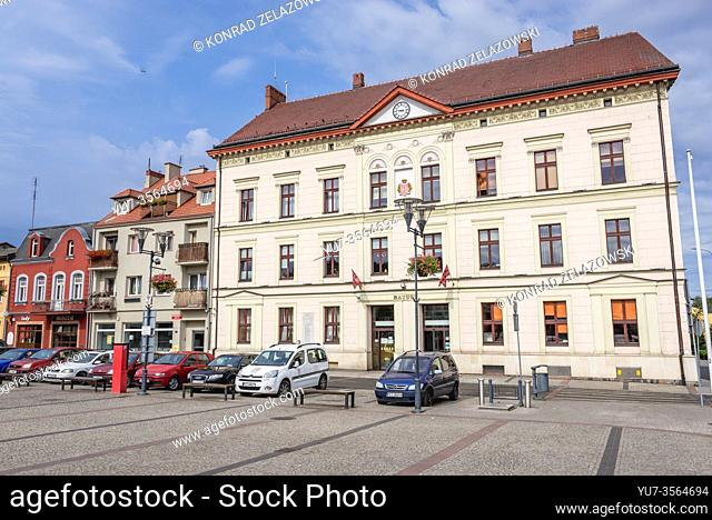 Town Hall building on Liberty Square in Czarnkow town in Czarnkow Trzcianka County, Greater Poland Voivodeship of Poland
