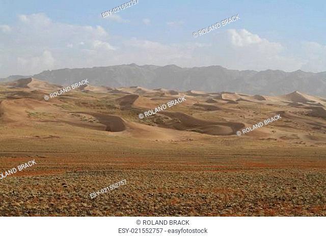 Die Wüste Gobi in der Mongolei