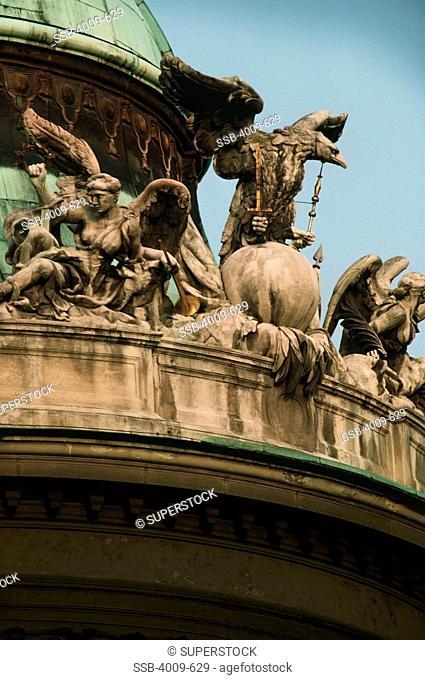 Statues at a palace, The Hofburg Complex, Heldenplatz, Vienna, Austria