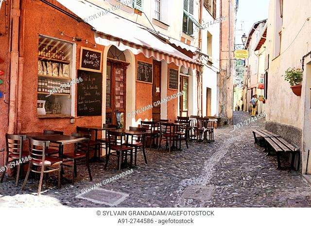 France, Provence, Alpes Maritimes (06), perched village of Saorge located in River Roya valley, Petite Epicerie