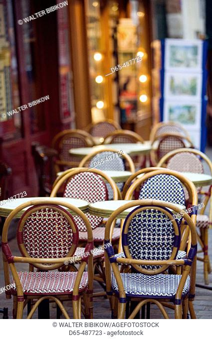 Cafe Tables. Place du Tertre. Montmartre. Paris. France