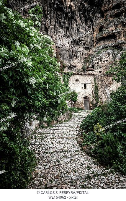 Villecroze cave dwellings, Var department, Provence-Alpes-Côte d'Azur, France Europe