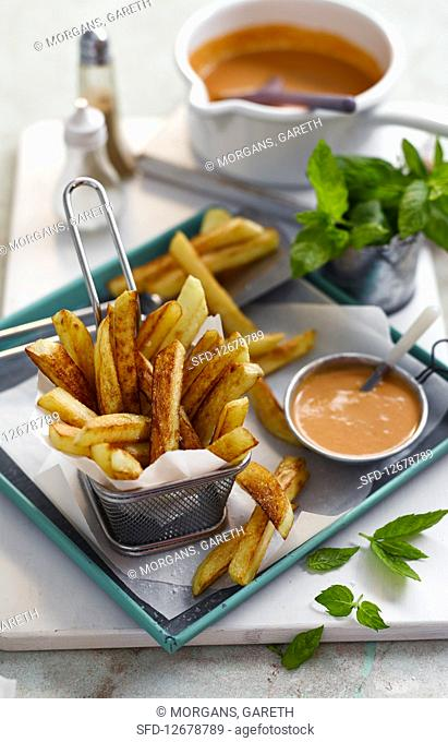 Chips with Curry Sauce