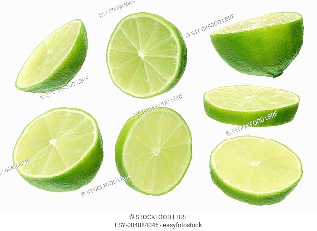 Lime halves and slices