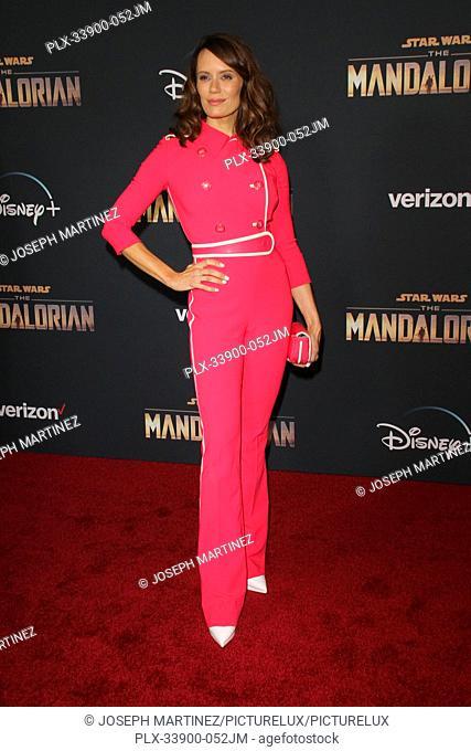 "Emily Swallow at """"The Mandalorian"""" Premiere held at El Capitan Theatre in Hollywood, CA, November 13, 2019. Photo Credit: Joseph Martinez / PictureLux"