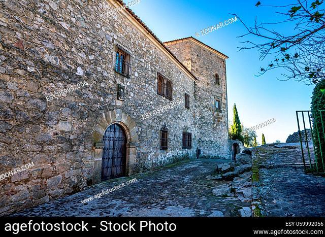Palacio de Lorenzana palace, medieval architecture in the city of Trujillo in Extremadura Spain