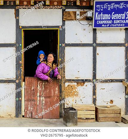 Mother and daughter in Bhutan