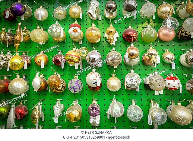 Worker completes glass ornaments in Slezska Tvorba factory in Opava, Czech republic, May 29, 2015. Slezska Tvorba manufacture produce hand-blown and painted...