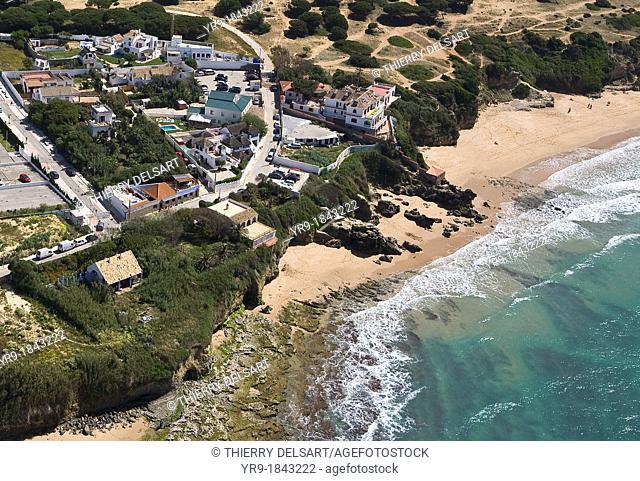 Caños de Meca coast Cádiz Spain Aerial view