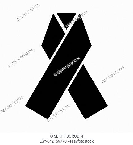 Ribbon it is black color icon