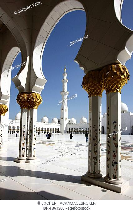 Sheikh Zayed Mosque, Abu Dhabi, United Arab Emirates, Middle EastSheikh Zayed Mosque, Abu Dhabi, United Arab Emirates, Middle East
