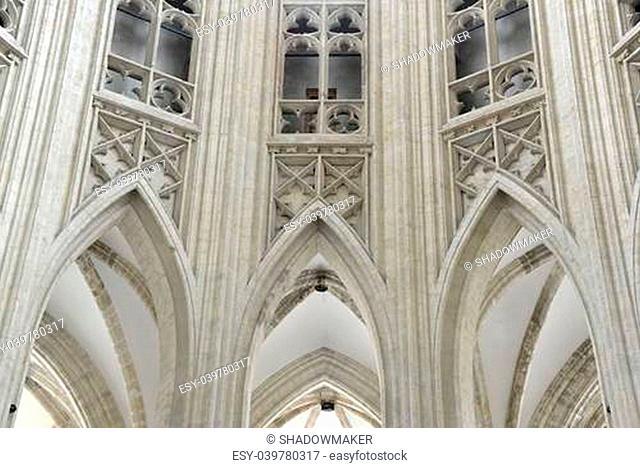Interior of the Saint Peter's Church in Leuven, Belgium