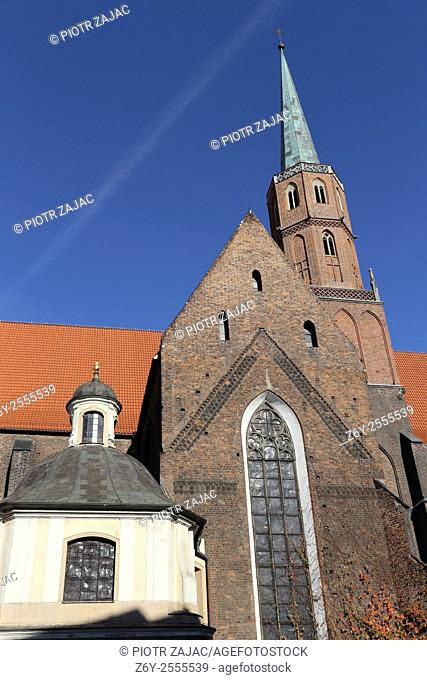 Saint Wojciech church at Dominikanski square in Wroclaw, Poland