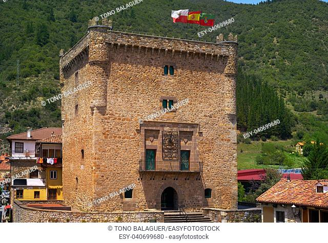 Potes infantado tower in Cantabria of Spain