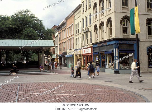 Ithaca, NY, New York, Finger Lakes, Ithaca Commons in downtown Ithaca