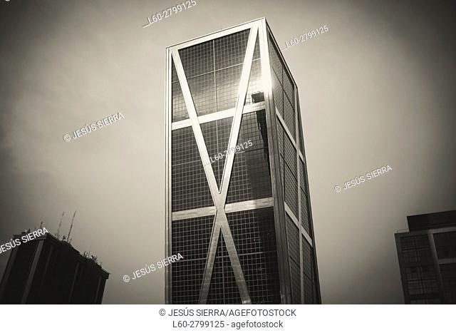 Kio Tower in Castilla Square, Madrid. Spain