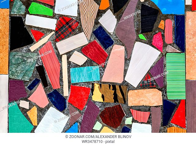 Abstract multicolored ceramic mosaic background as a creative texture