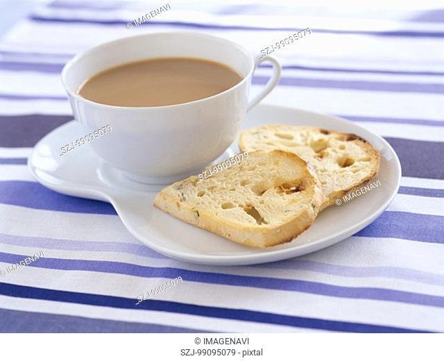 Cafe Au Lait and Bread