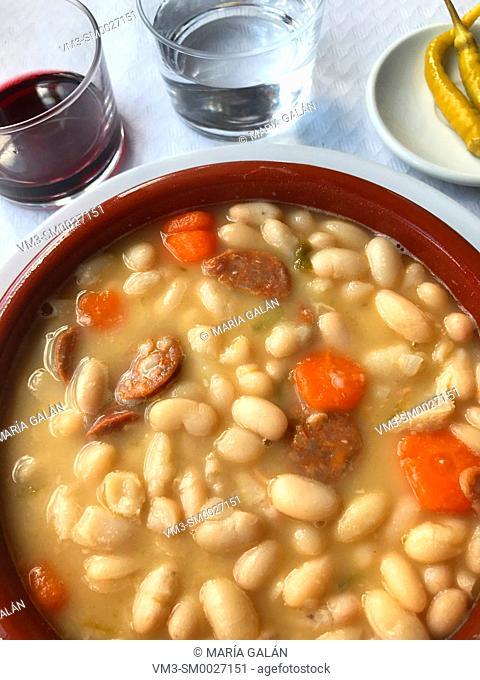 Beans stew. Spain