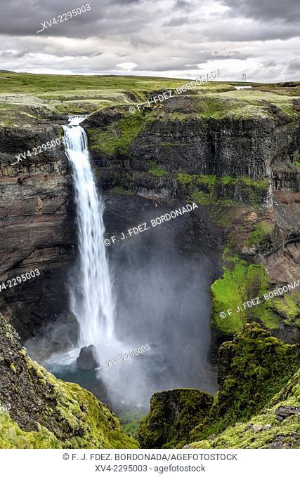 Haifoss waterfall. Iceland Higland