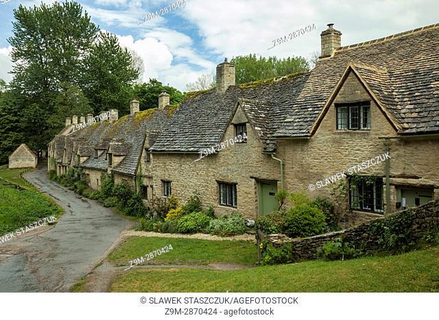 Arlington row in Bibury village in the Cotswolds, Gloucesterhire, England