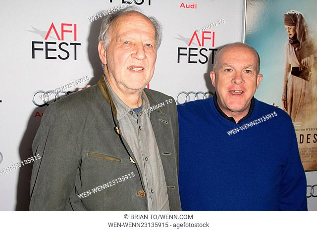 Premiere screening of 'Queen of the Desert' at The Egyptian Theatre - Arrivals Featuring: Werner Herzog, Cassian Elwes Where: Los Angeles, California