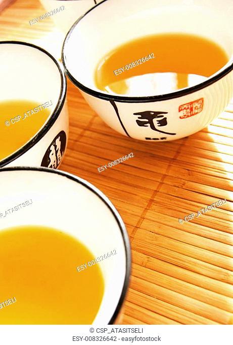 Closeup of set of China tea