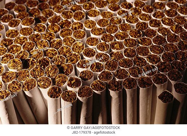 Stack of paper cigarettes