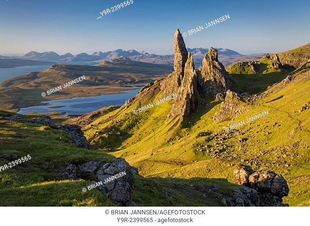 Dawn at the Old Man of Storr, Trotternish Peninsula, Isle of Skye, Scotland