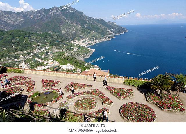 il giardino dell'anima, villa rufolo, ravello, costiera amalfitana, italia
