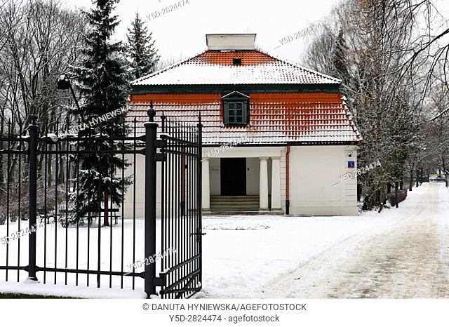 Hermitage - Ermitaz - situated outside the precincts of Lazienki Park - Royal Baths Park - on the opposite side of Agrykola Street