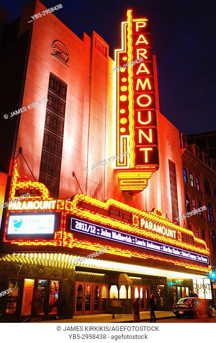The Histoiric Paramount Theater in Boston