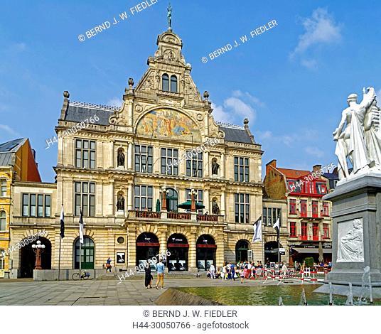 NTGent, castle Schouw, theatre, well, Ghent Belgium
