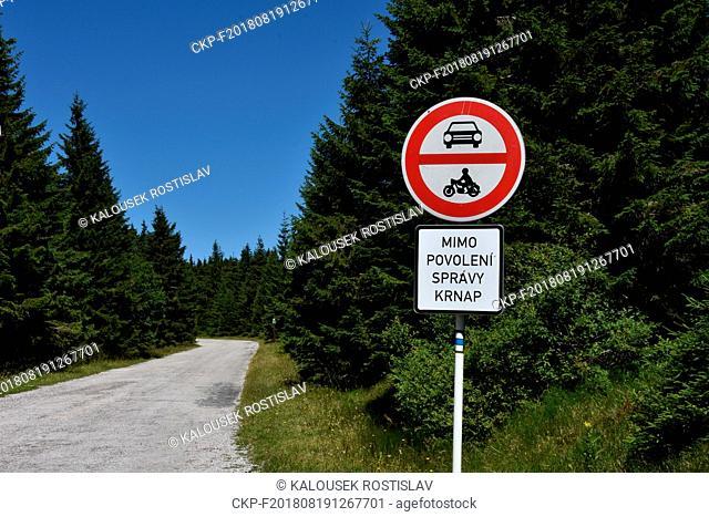 Prohibition of entry into the Krkonose National Park, Czech Republic, 2018. (CTK Photo/Rostislav Kalousek)