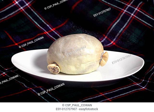 Haggis with tartan