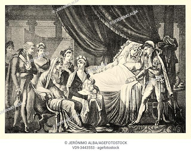 Birth of Napoleon II. Napoléon François Joseph Charles Bonaparte (Paris, March 20, 1811-Vienna, July 22, 1832), was the son of Napoleon I and Empress Maria...