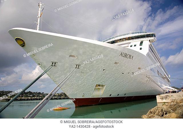 Cruise Ship docked at Antigua's Heritage Quay