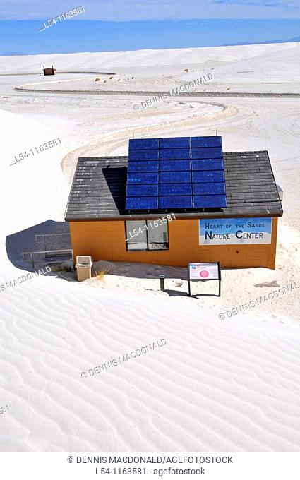 Solar Panel on building White Sands National Monument New Mexico