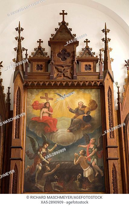 Religious Painting, Iglesia Parroquial de la Santísima, Trinidad, UNESCO World Heritage Site, Sancti Spiritus, Cuba