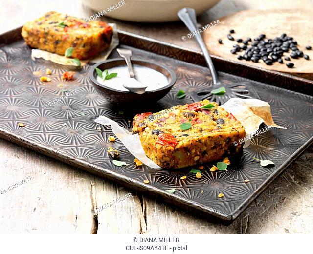 Food, vegetarian meals, lentil, bean and butternut roast