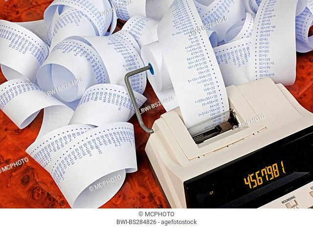 Calculator stripe Stock Photos and Images   age fotostock