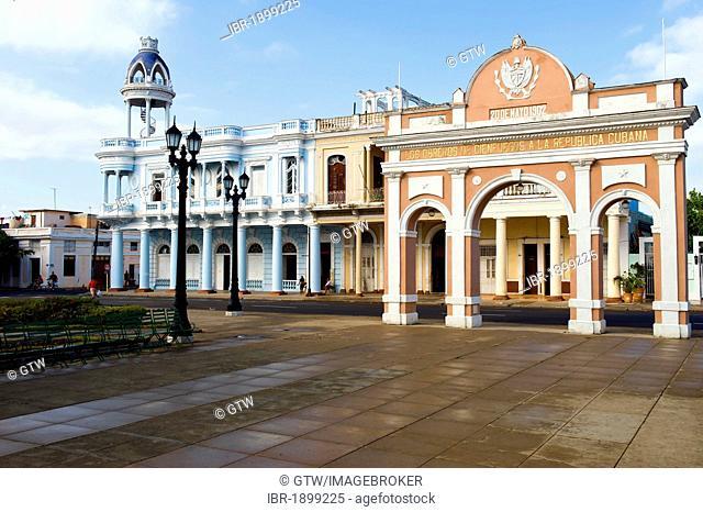 Casa de Cultura, House of Culture, Parque Jose Marti, Cienfuegos, Unesco World Heritage Site, Cuba